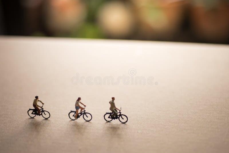 Gli amici sono sul viaggio della bici immagine stock
