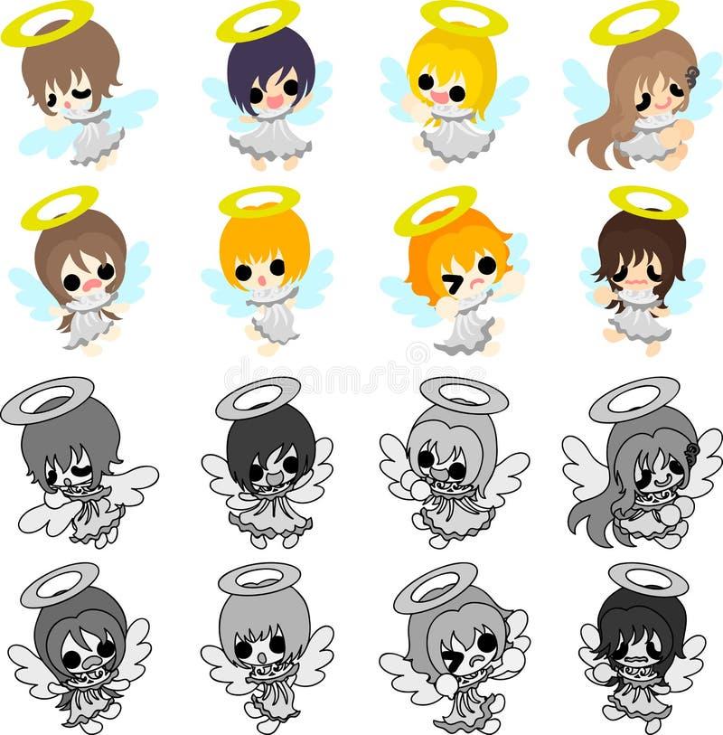 Gli angeli graziosi royalty illustrazione gratis