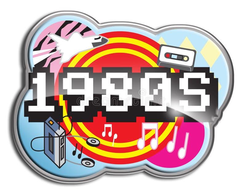 gli anni 80 illustrazione vettoriale