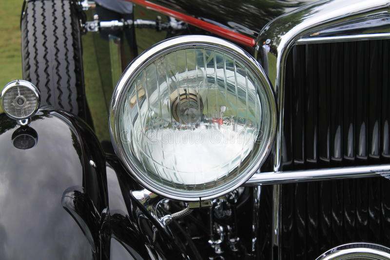 Faro americano classico dell'annata dell'automobile fotografia stock libera da diritti