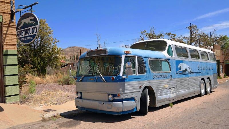 gli anni 50 doppio Decker Greyhound Bus fotografia stock