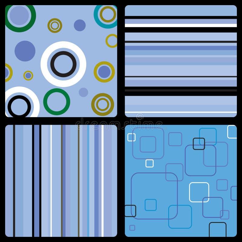 Gli anni settanta wallpaper l'azzurro illustrazione di stock
