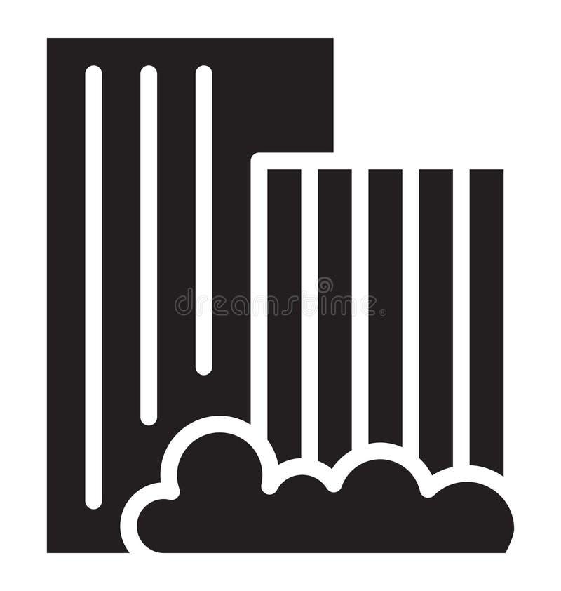 Gli appartamenti hanno isolato l'icona di vettore che può modificare o pubblicare facilmente l'icona di vettore isolata appartame illustrazione di stock