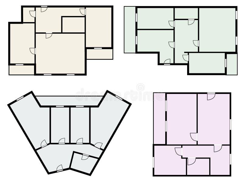 Gli appartamenti progettano, osservano dal vettore di cui sopra illustrazione vettoriale