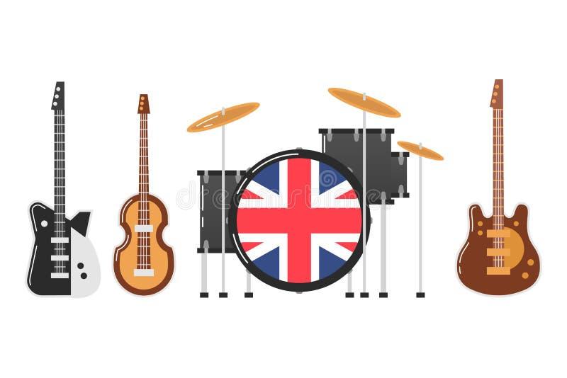 Gli argomenti della banda di Beatles illustrazione di stock