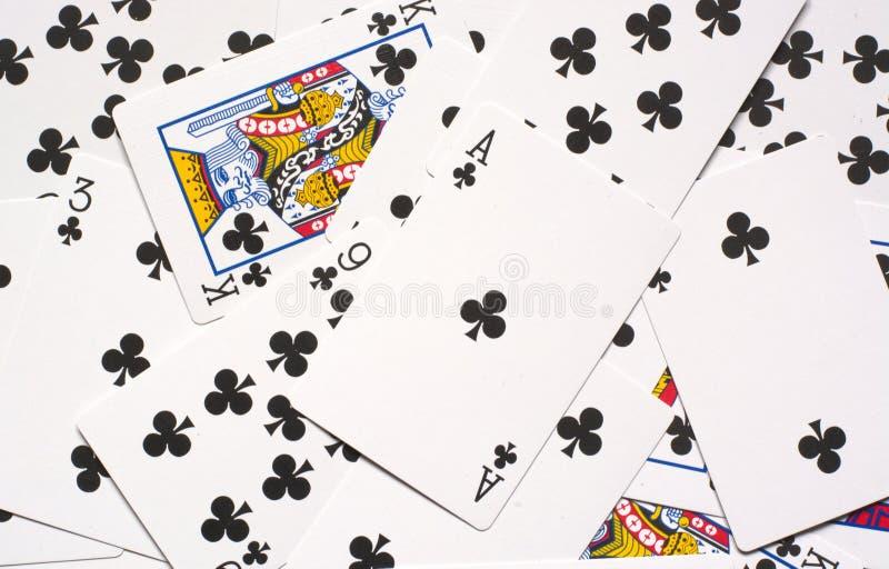 gli assi, re, tutti i fiori, colore, carte sono appena le illusioni immagini stock