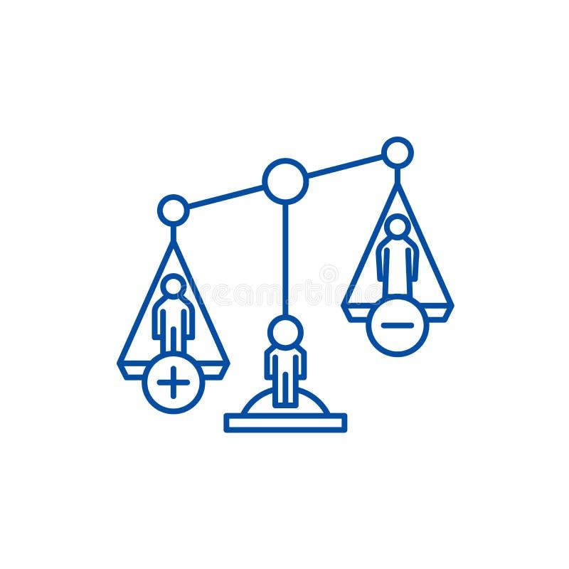 Gli atti di divorzio allineano il concetto dell'icona Simbolo piano di vettore di atti di divorzio, segno, illustrazione del prof royalty illustrazione gratis