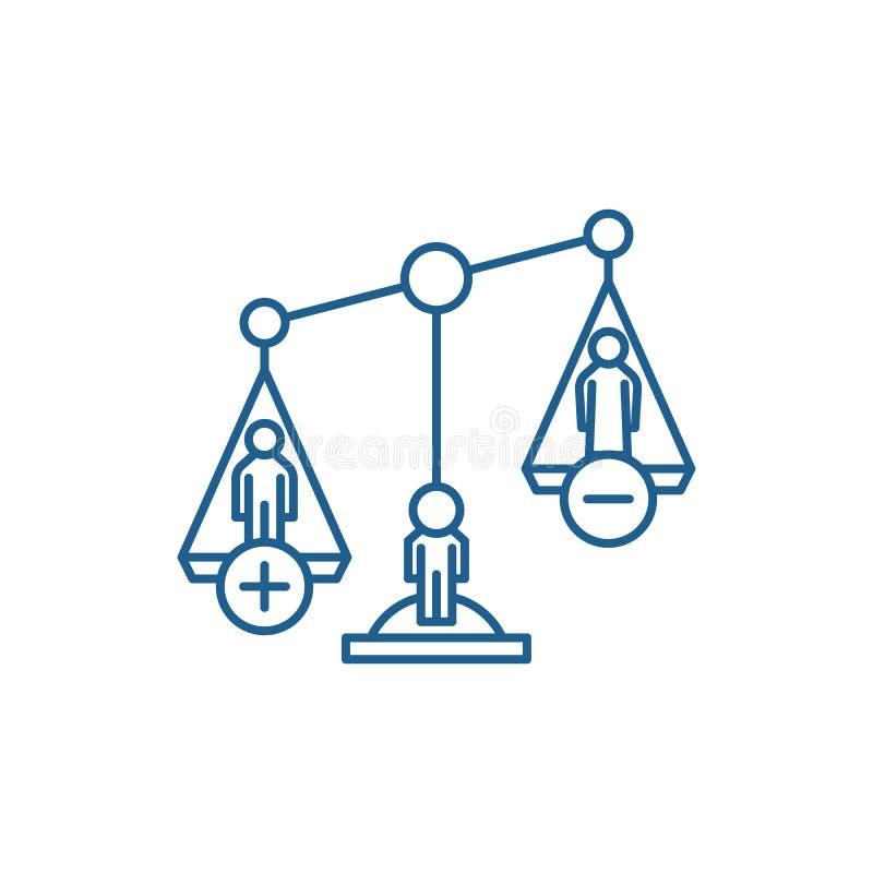 Gli atti di divorzio allineano il concetto dell'icona Simbolo piano di vettore di atti di divorzio, segno, illustrazione del prof illustrazione di stock