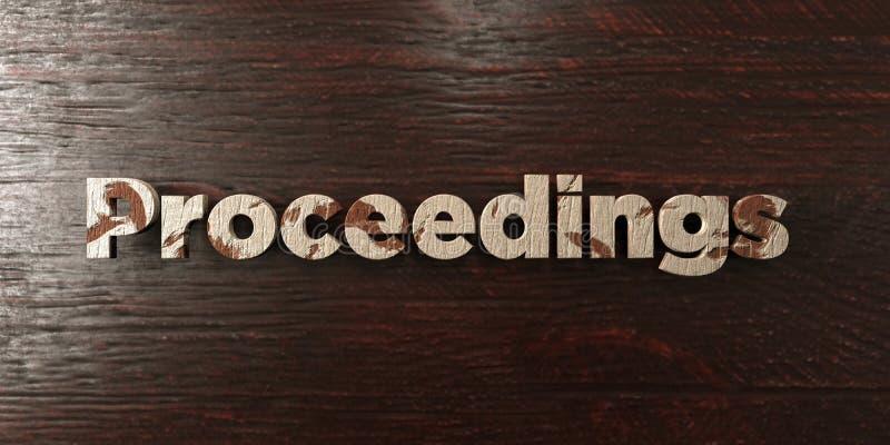 Gli atti - titolo di legno grungy sull'acero - 3D hanno reso l'immagine di riserva libera della sovranità illustrazione vettoriale