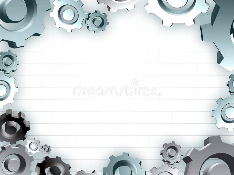 Gli attrezzi incorniciano il bordo industriale di tecnica illustrazione vettoriale