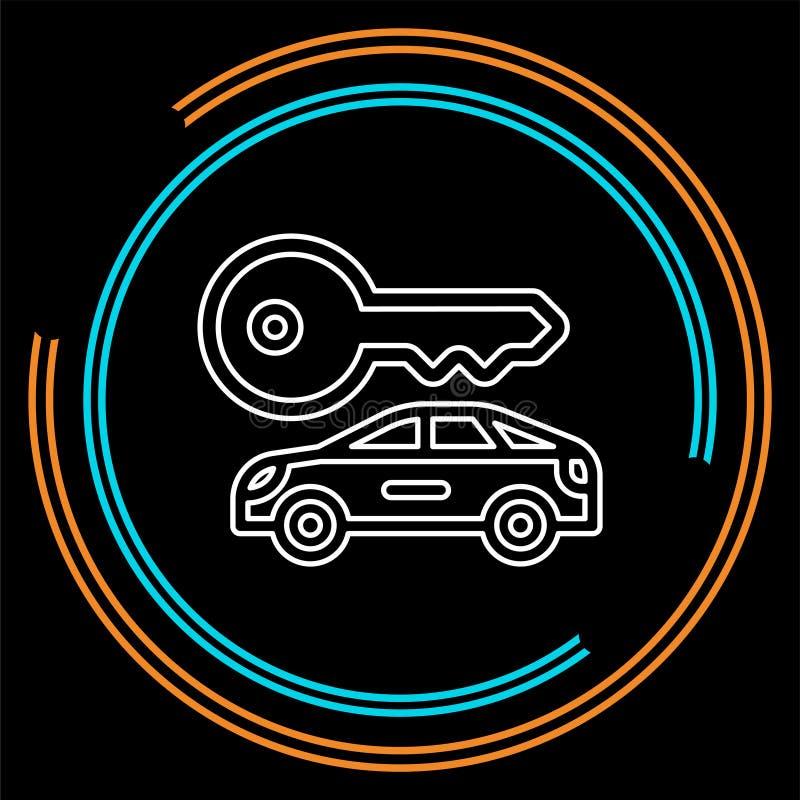 Gli autonoleggi di vettore identificano, logo, l'icona, emblema illustrazione di stock