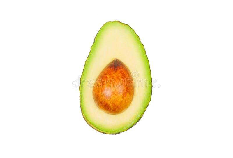 Gli avocado levitano in aria su fondo bianco Concetto di levitazione di verdure fotografia stock