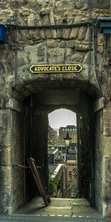 Gli avvocati chiudono Edimburgo fotografia stock