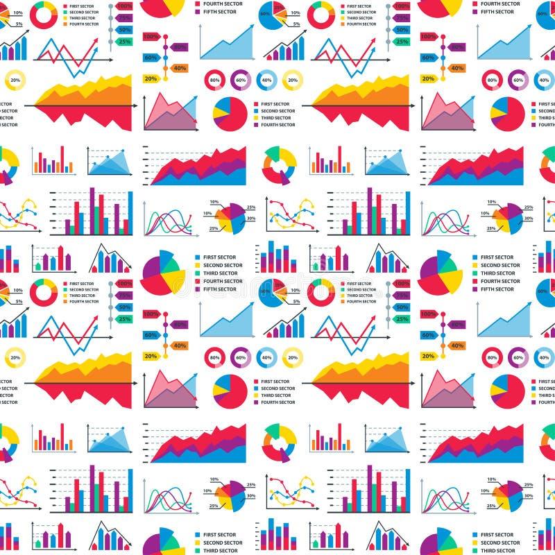 Gli elementi del grafico del grafico del diagramma vector il progresso infographic delle frecce e del cerchio del modello di dati royalty illustrazione gratis