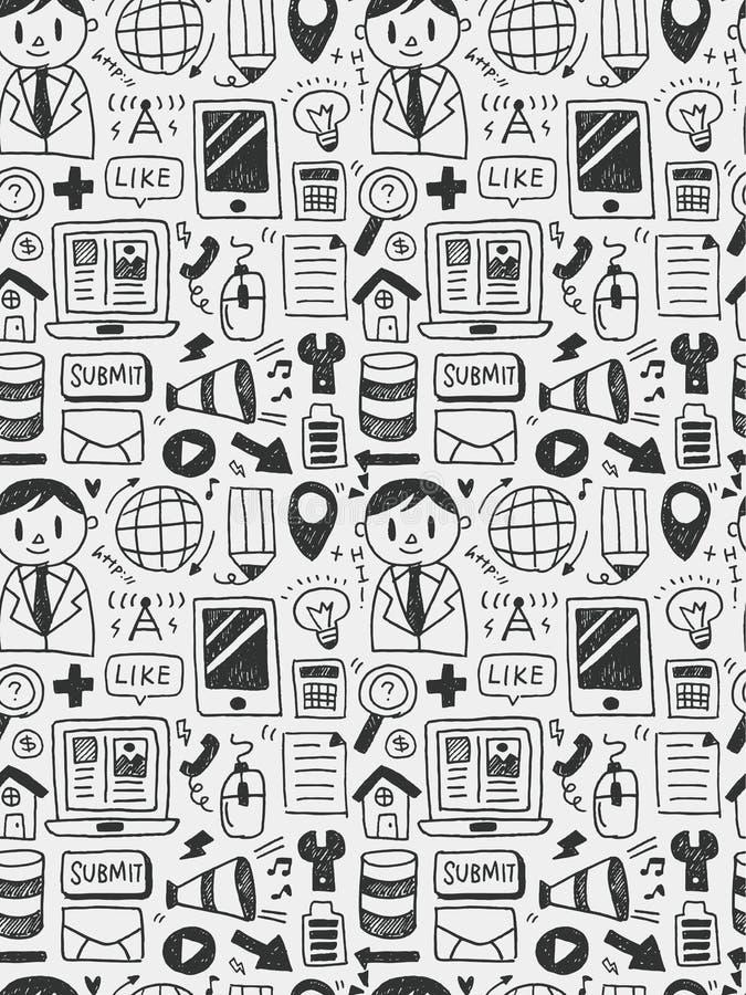 Gli elementi di istruzione scarabocchia la linea disegnata a mano l'icona, eps10 illustrazione vettoriale