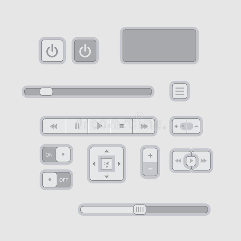 Download Gli Elementi Piani Di Web UI Progettano Il Gray Illustrazione Vettoriale - Illustrazione di icona, illustrazione: 56877074