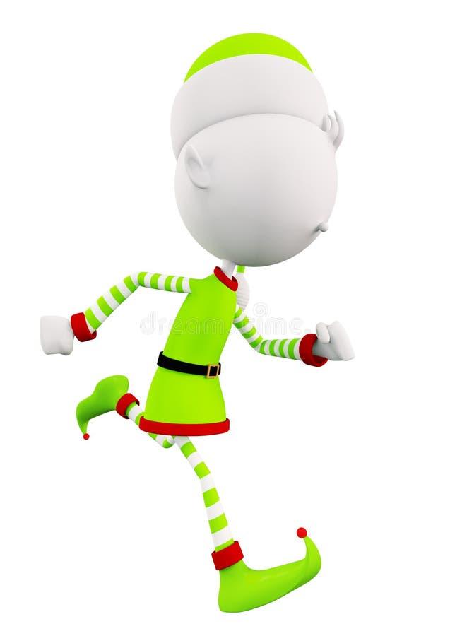 Gli elfi bianchi sta correndo illustrazione vettoriale
