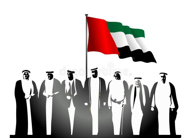Gli Emirati Arabi Uniti & x28; I UAE & x29; Logo di festa nazionale illustrazione vettoriale