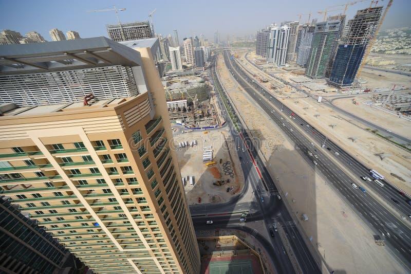 Gli Emirati Arabi Uniti: Orizzonte della Doubai fotografia stock libera da diritti