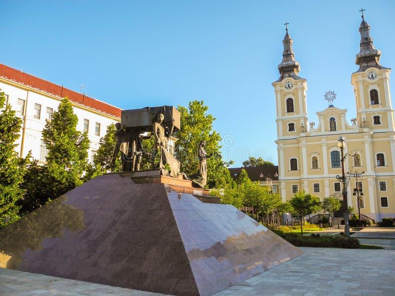 Gli eroi caduti della città di Miskolc immagini stock