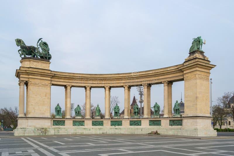 Gli eroi di Budapest quadrano - l'Ungheria immagini stock libere da diritti