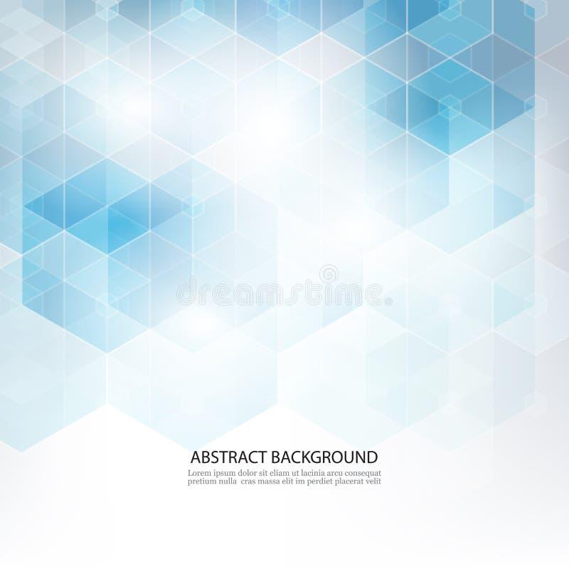Gli esagoni geometrici astratti modellano il fondo di concetto di scienza e della medicina illustrazione di stock