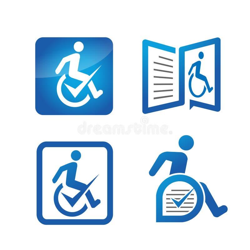Gli handicappati hanno assistito il logo royalty illustrazione gratis