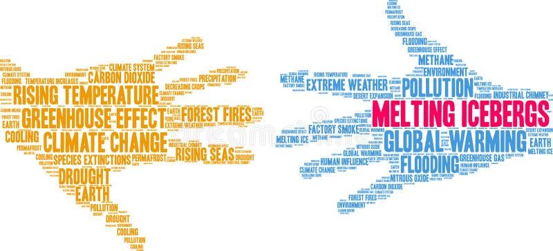 Gli iceberg di fusione esprimono la nuvola royalty illustrazione gratis