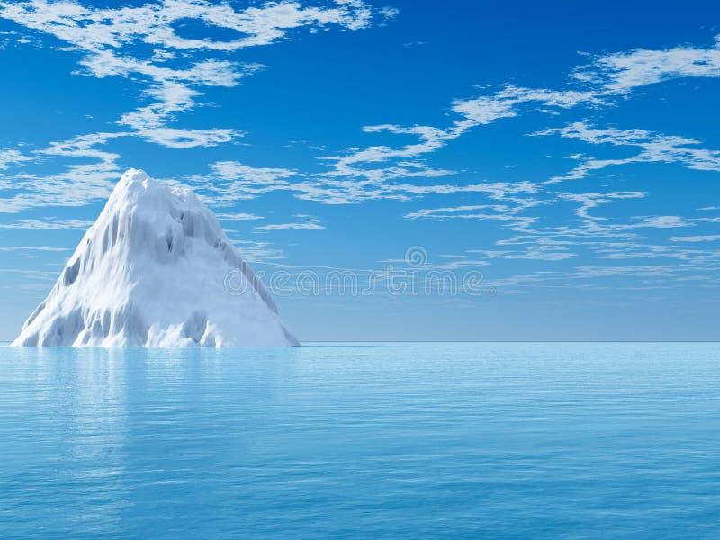 Gli iceberg grandi sull'oceano aperto royalty illustrazione gratis