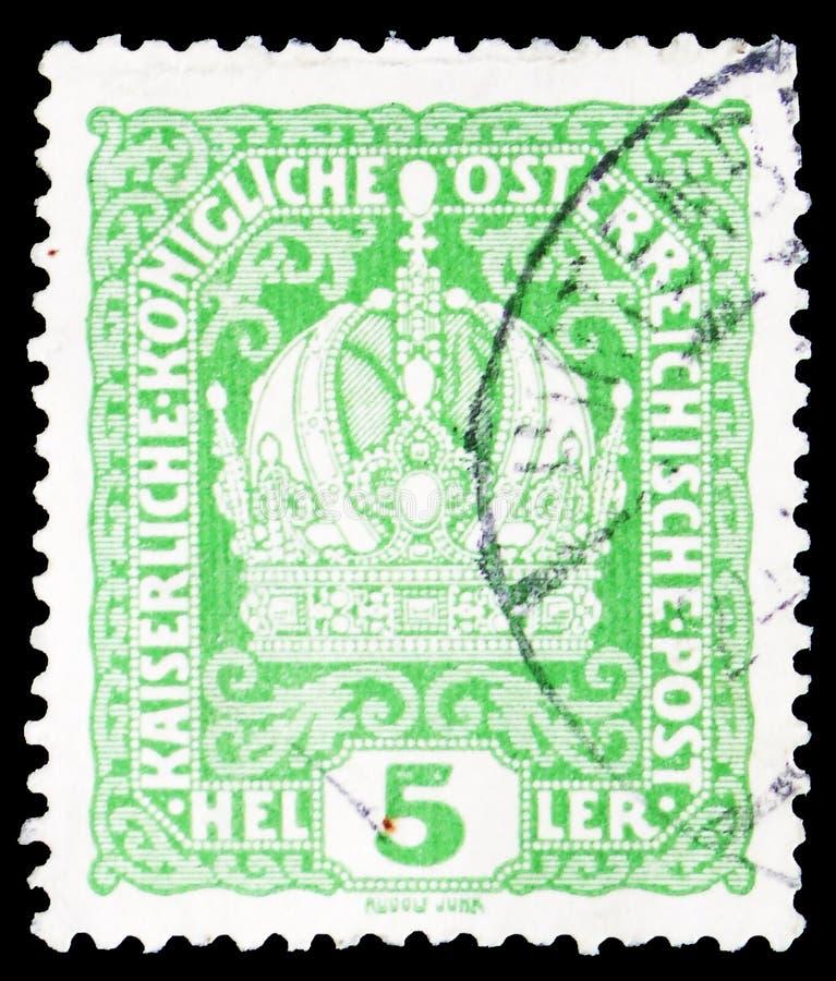 Gli imperatori incoronano, serie incoronano, dell'imperatore Franz Joseph e della stemma, circa 1916 immagini stock