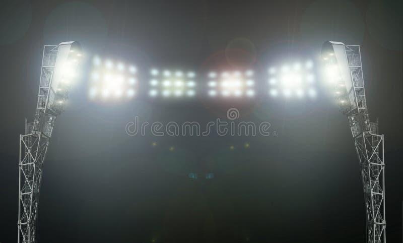 Gli indicatori luminosi dello stadio immagini stock