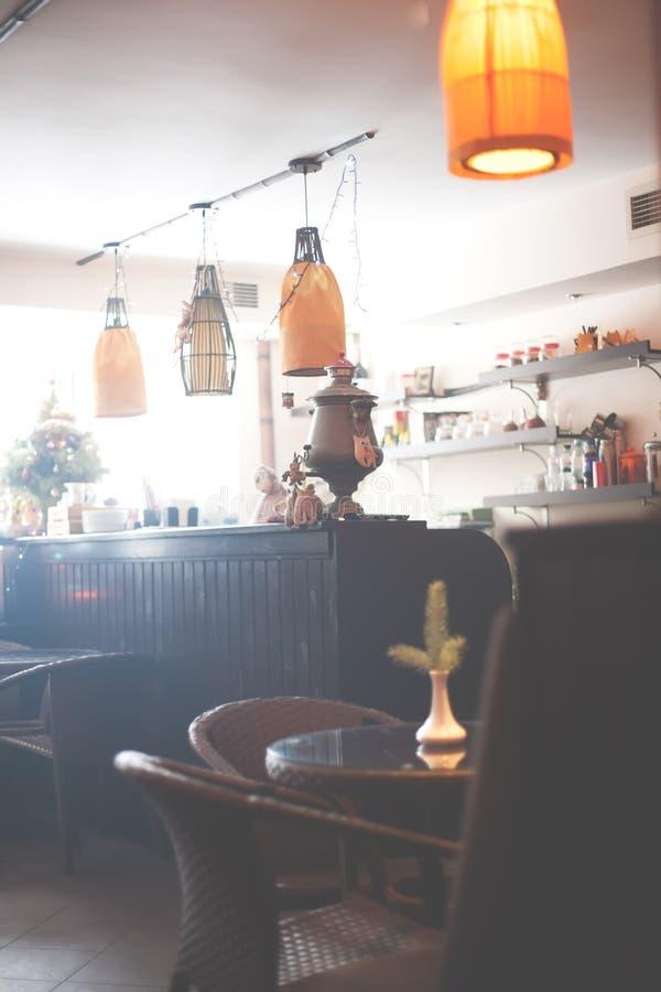 Gli interni del caffè fotografia stock
