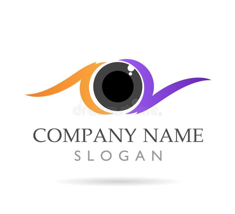 Gli occhi si preoccupano, clinica, icona variopinta di vettore di logo royalty illustrazione gratis