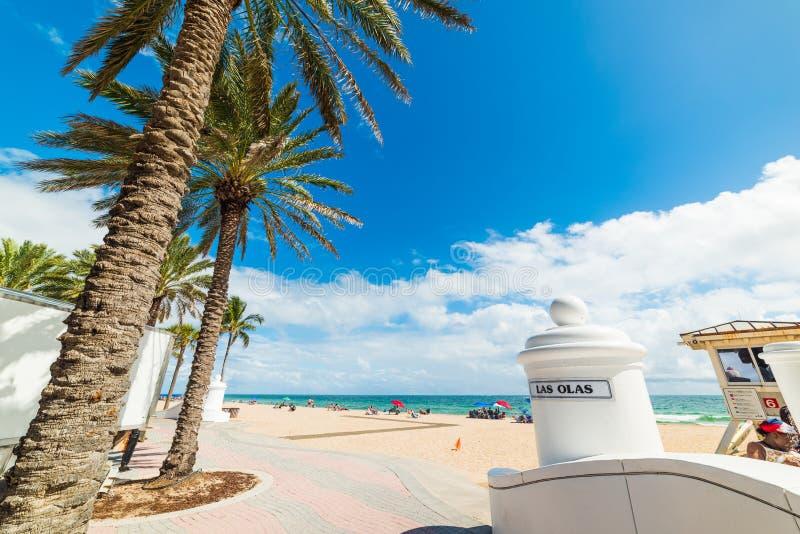 Gli ola di Las tirano l'entrata in secco in Fort Lauderdale fotografia stock libera da diritti