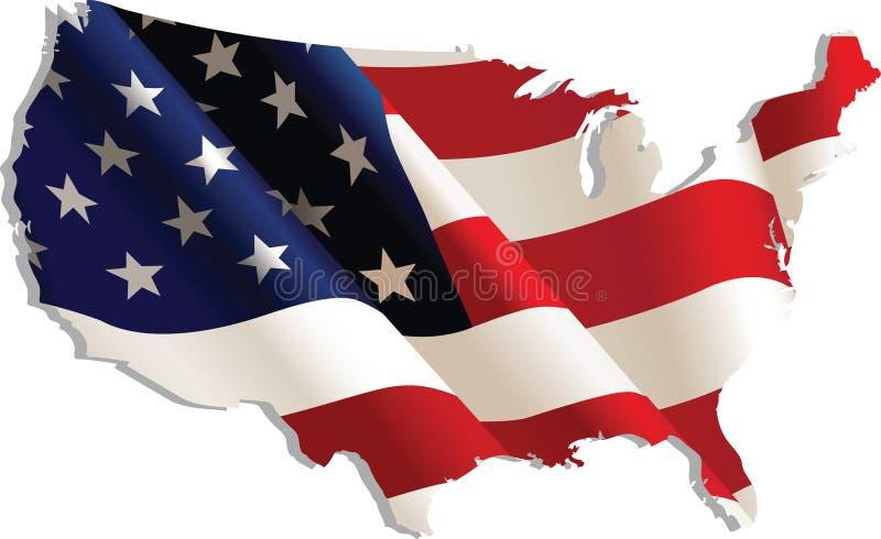 Download Gli S.U.A. illustrazione vettoriale. Illustrazione di orizzontale - 7303431