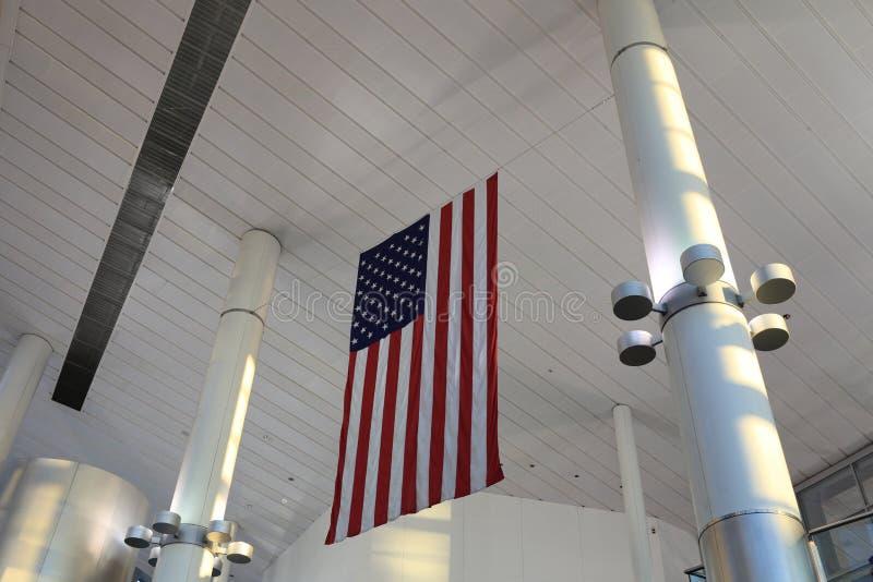 Gli S.U.A. inbandierano dell'interno fotografie stock