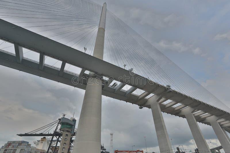 Download Gli Scalpellini Gettano Un Ponte Su E La Strada Principale Di Sha Di Tsing Immagine Stock - Immagine di carrier, merci: 55355933