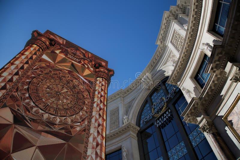 Gli Shoppes del forum al Caesars Palace fotografia stock