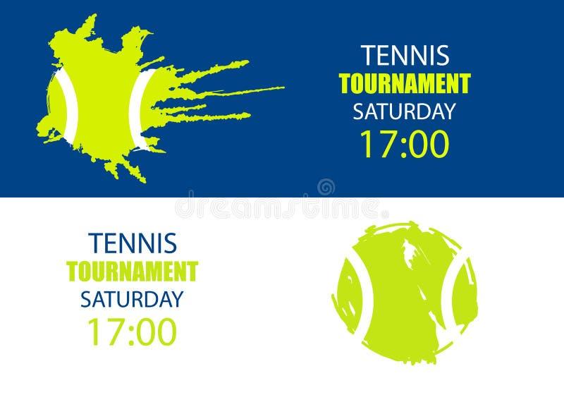 Gli sport progettano per il tennis illustrazione di stock