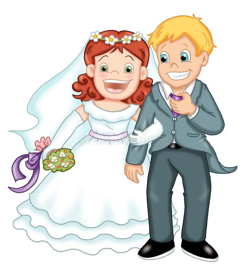 Gli sposi illustrazione vettoriale