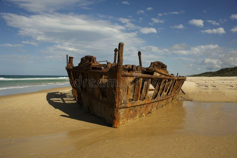 Gli ss Maheno di Fraser Island fotografia stock