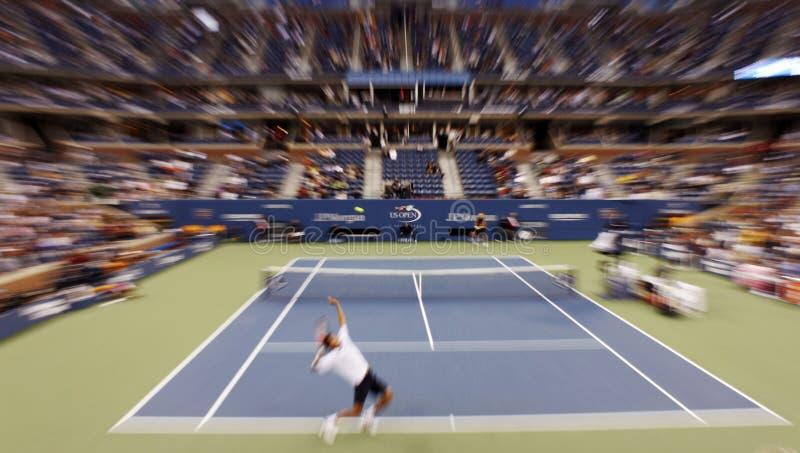 Gli Stati Uniti aprono la corrispondenza di tennis fotografie stock
