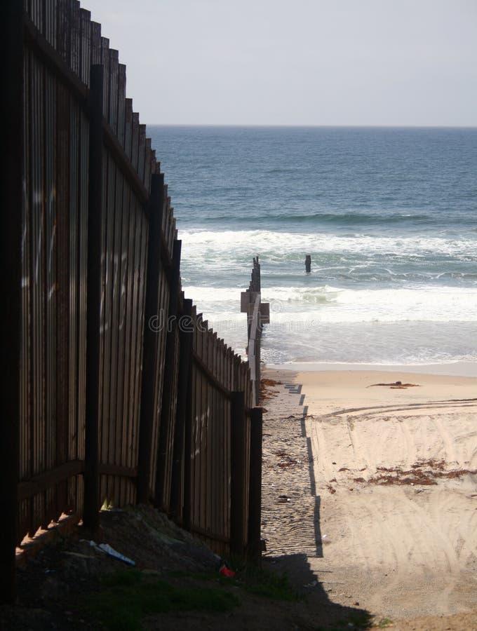 Gli Stati Uniti/confine messicano fotografie stock