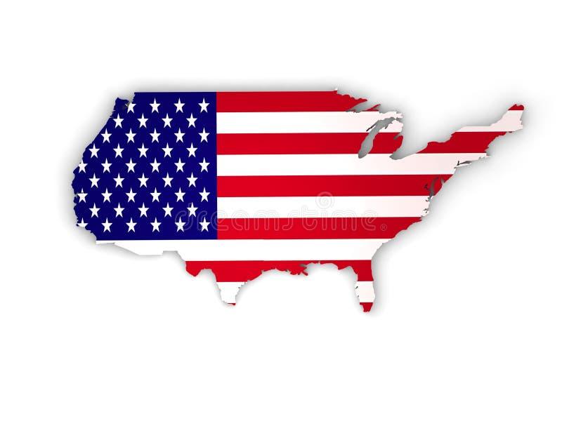 Gli Stati Uniti d'America, paese di U.S.A. 3d fotografie stock libere da diritti