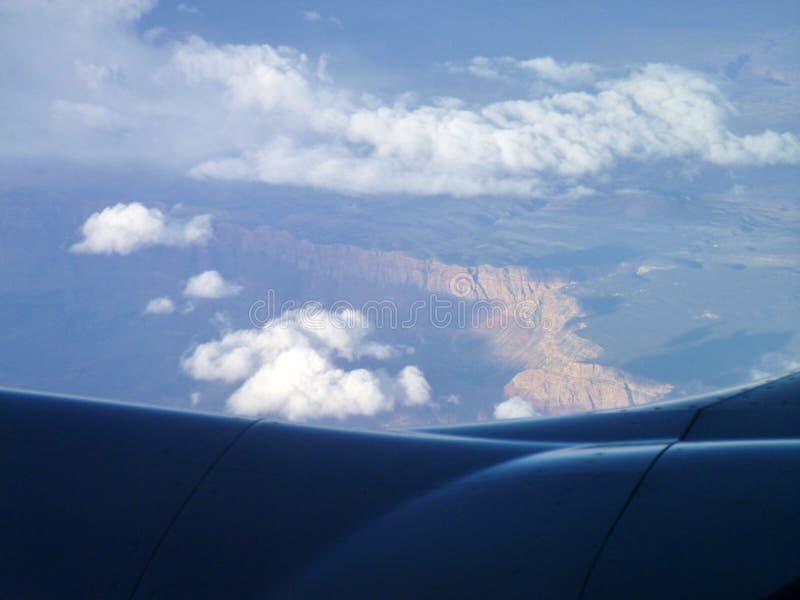 Gli Stati Uniti Grand Canyon da aria fotografia stock libera da diritti
