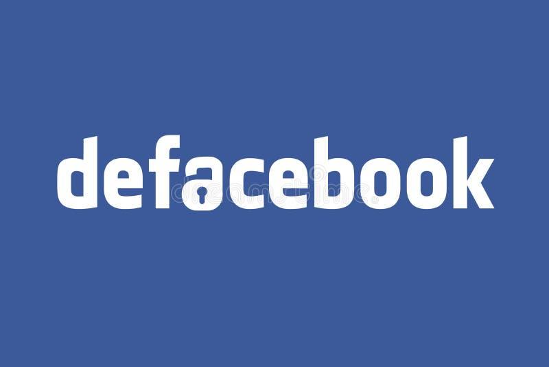 Gli STATI UNITI, il 30 settembre 2018 - l'idea dell'illustrazione per Facebook che rivela 50 milione utenti ha compromesso nella  illustrazione vettoriale