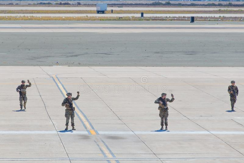 Gli Stati Uniti Marine Corps Soldiers immagine stock