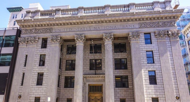 Gli Stati Uniti National Bank Portland - PORTLAND/OREGON - 15 aprile 2017 fotografie stock libere da diritti