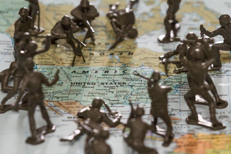 Gli Stati Uniti nell'ambito dell'attacco fotografia stock libera da diritti