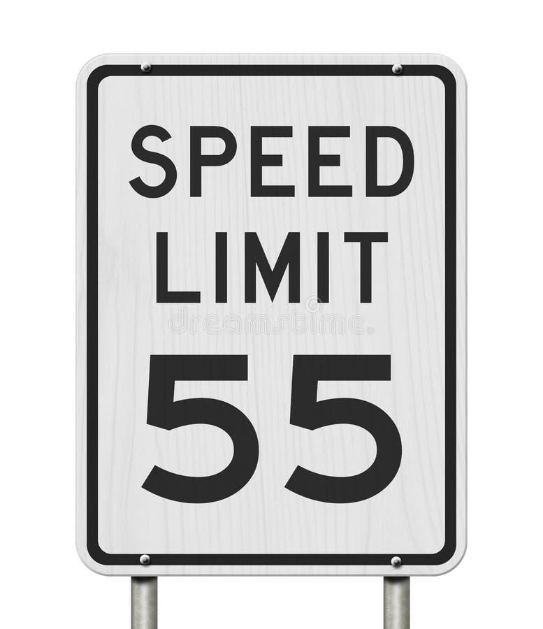 Gli Stati Uniti segno limite di velocit? di 55 mph immagine stock libera da diritti